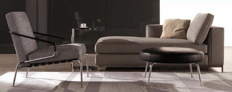 五金底脚架奢侈品家居 现代简约 Minotti Albers 沙发 面料规格颜色可定制 高端家具