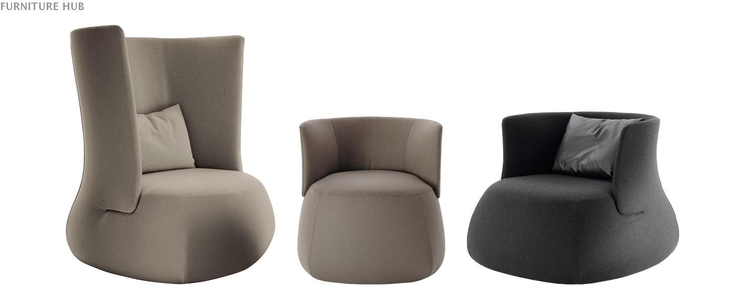 B&B Italia(BEBITALIA) 椅脚凳 pouf B&B(beb italia)家用商用家具设计