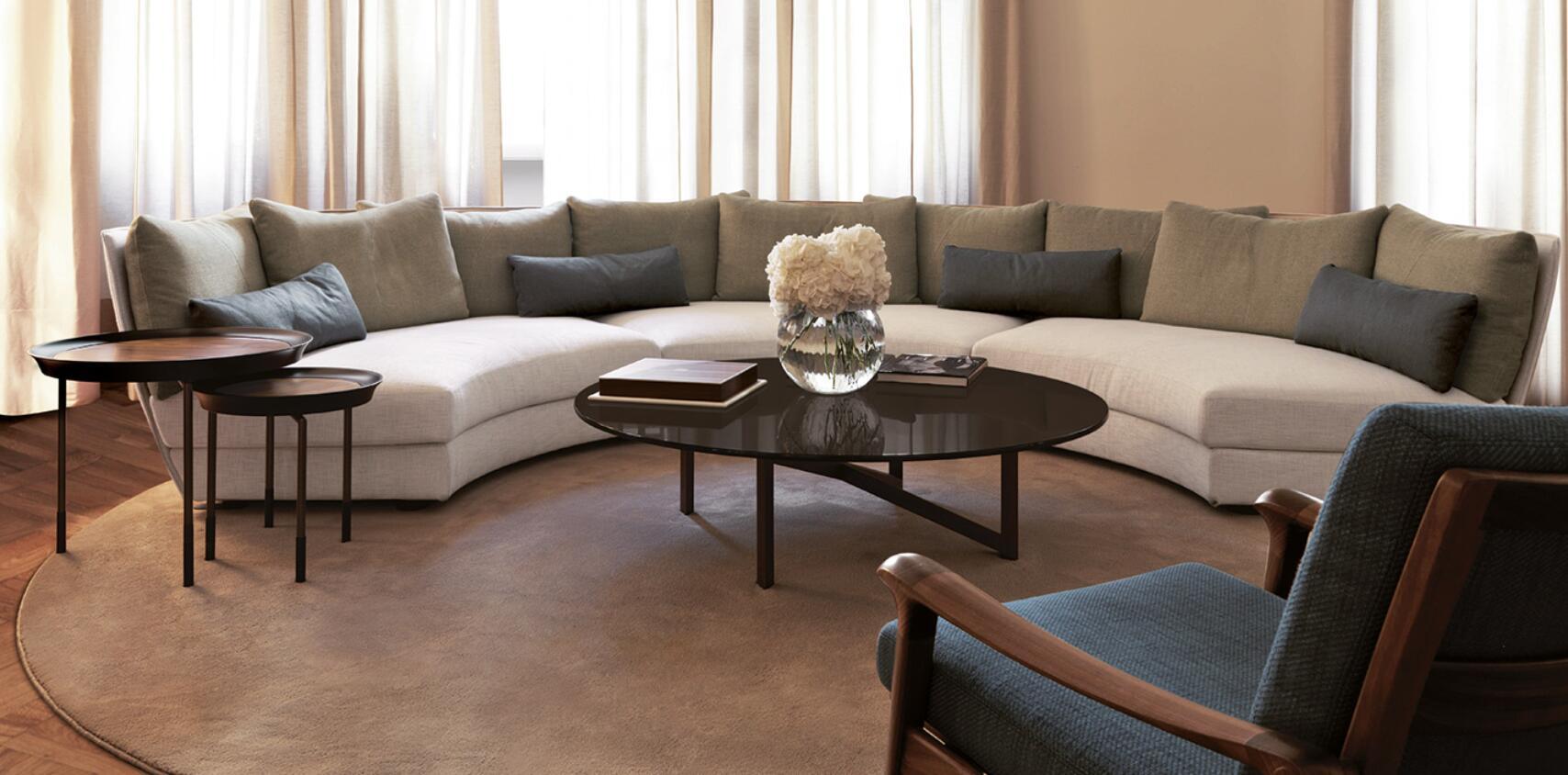 Giorgetti 沙发 Dhow 系列 半圆形家具会议沙发多人沙发面料规格颜色可定制