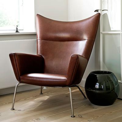 北欧简约现代接待沙发椅创意翅膀椅翼椅 客厅阳台单人休闲椅 Hans J. Wegner
