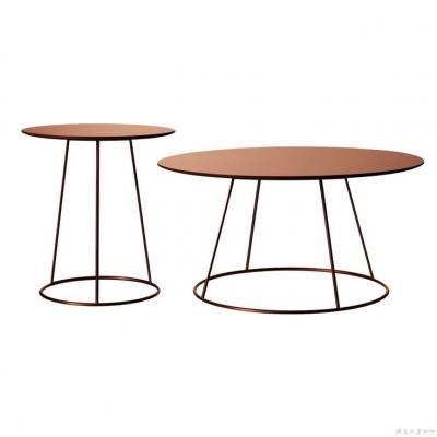 铜色茶几Breeze tables by Monica Förster for Swedese Förster可定制