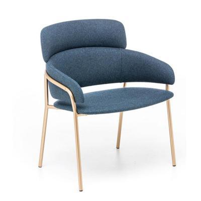 居家豪华 经典耐看百搭 金色黑色脚餐椅面料颜色可定制 建筑室内设计家具