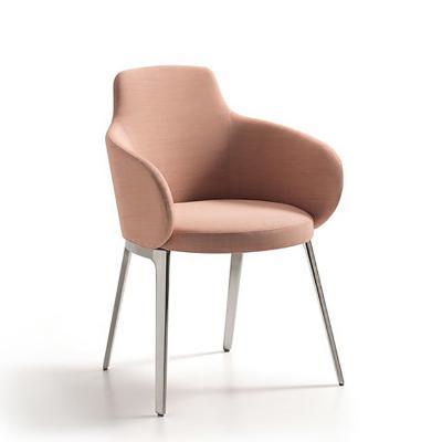 酒店会所不锈钢餐椅 金属靠背咖啡设计师餐桌椅Lueasygi KTV ROC Chair 椅子