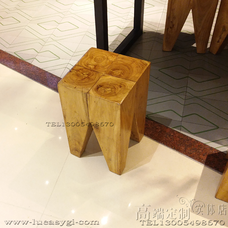 Stool实木凳子茶几边几 原木椅子 高端家具规格颜色定制