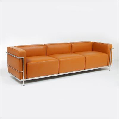 三人位沙发Le Corbusier柯布西耶Sofa Lc3办公休闲发规格面料可定制