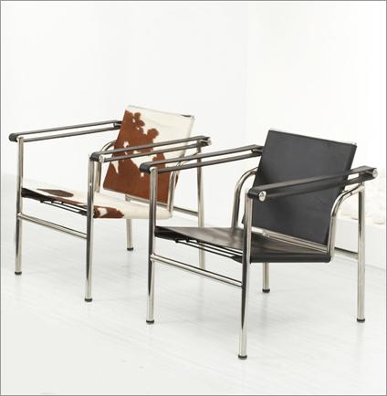 柯布西耶扶手椅LC1阅读Sling Chair 休闲接待会客休闲椅Corbusier