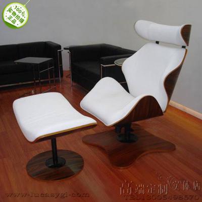 北欧曲木躺椅LOUNGE CHAIR喜多俊之 办公室酒店高端老板休息椅