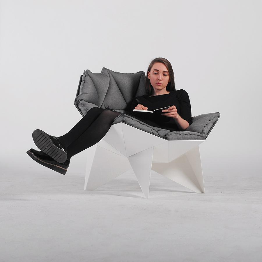 现货玻璃钢创意椅Q1 LOUNGE CHAIR 会客洽谈休闲造型展厅多角边