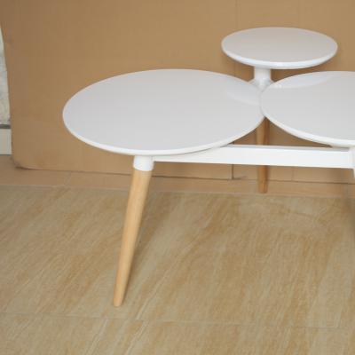 四叶草茶几创意边几clover coffee table 三圆面北欧设计师茶几