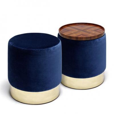 定制个性换鞋凳Luigi Caccia Dominioni 简约金色  布艺沙发边儿童凳