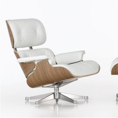 休闲椅伊母斯Eames Lounge Chair and Ottoman躺椅  办公书房椅 弯板椅