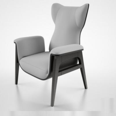 酒店大气会客单人沙发椅fendi casa cerva armchair  商务洽谈椅