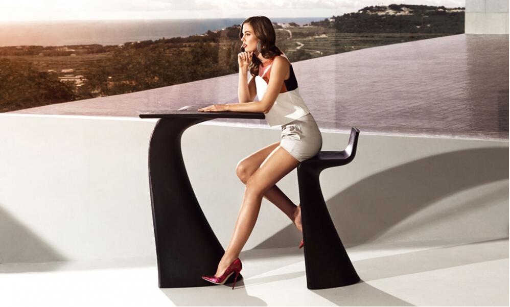 户外酒吧椅沙滩玻璃钢 温顿设计咖啡酒店KTV 吧椅 桌子  高品质 质量第一 高端家具餐椅