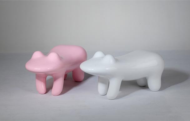 定制款 坐凳青蛙椅儿童坐凳家具换鞋凳玻璃钢儿童玩家饰物