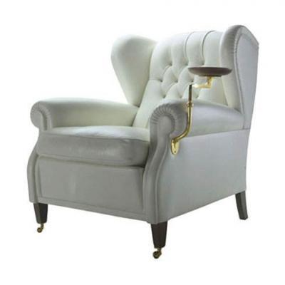 Poltrona Frau AR CADIA-CHESTER ONE 接待明星欧式复古老虎家具 欧式沙发定制各种现代休闲 带边几的椅子 座椅