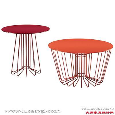 设计师家具 不锈钢圆形边几角几 大师家具设计网  全球高端家具定制