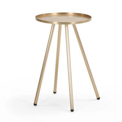 大师家具设计网 金属电镀玫瑰金边几 时尚现代设计师床头柜角几边桌