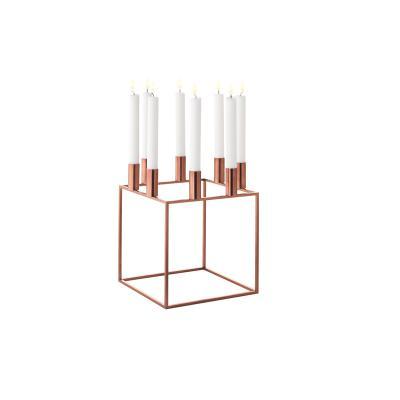 宜家定制 立方铁艺烛台 简约样板房餐桌软装几何浪漫烛台摆件 大师家具设计网