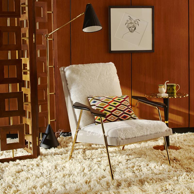 中式 面料规格颜色可定制 现代客厅书房休闲椅 新古典酒店会所单人沙发椅