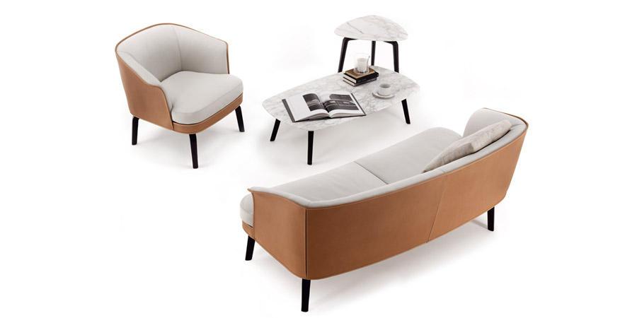POLT定制RONA FRAU * Nivola系列沙发意大利米兰家具直购皮革+布艺