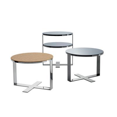 B&B意大利 家具茶几  轻奢个性设计家具设计网 五金家具 边几角几不锈钢电镀