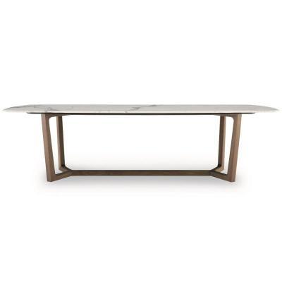 大理石个性设计家具设计网 五金家具Poliform实木五金桌 家具