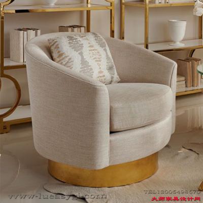 John Mathias Bernhardt设计Hayworth Swivel Chair 轻奢单人双人 布艺沙发椅