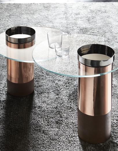 五金不锈钢玫瑰金香槟金茶几 边几 角几 桌子 大师家具设计网