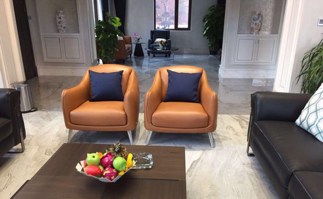 北欧家具定制 意大利家具纳图兹 扶手椅沙发 面料颜色可定制