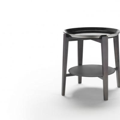 双层茶几大全 上下双圆盘 不锈钢铁实木 意大利家具 边几 五金不锈钢电镀金色 实木家具