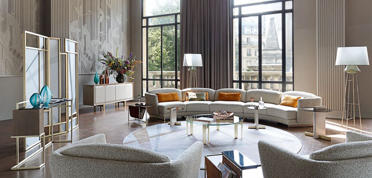 半圆形沙发 法国家具沙发 高端定制规格面料可定制