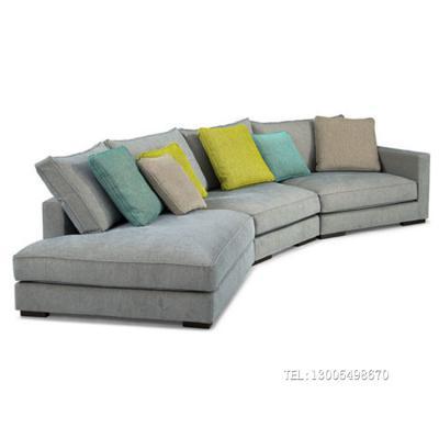 大方块半圆形 法国进口家具沙发 沙发定制