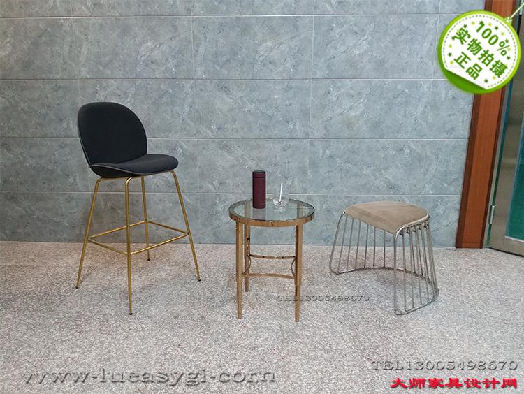 不锈钢电镀玫瑰金茶几 亮光边几角几 北欧欧美家具高端个性定制