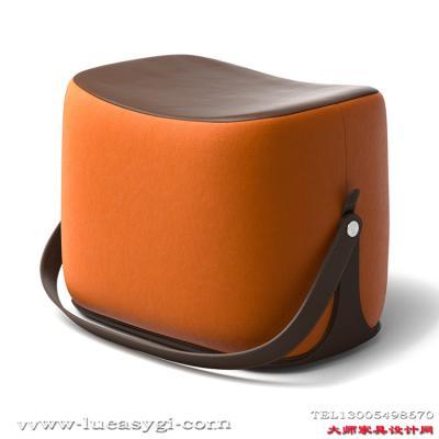 手提手stool奥丝曼小凳客厅创意设计师马鞍凳矮凳换鞋凳 包包店商场摆设凳