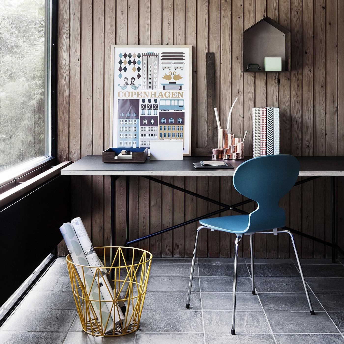 1比1高仿定制丹麦设计 金属收纳篮 茶几 边几 床头桌柜 顶板 规格颜色可定制