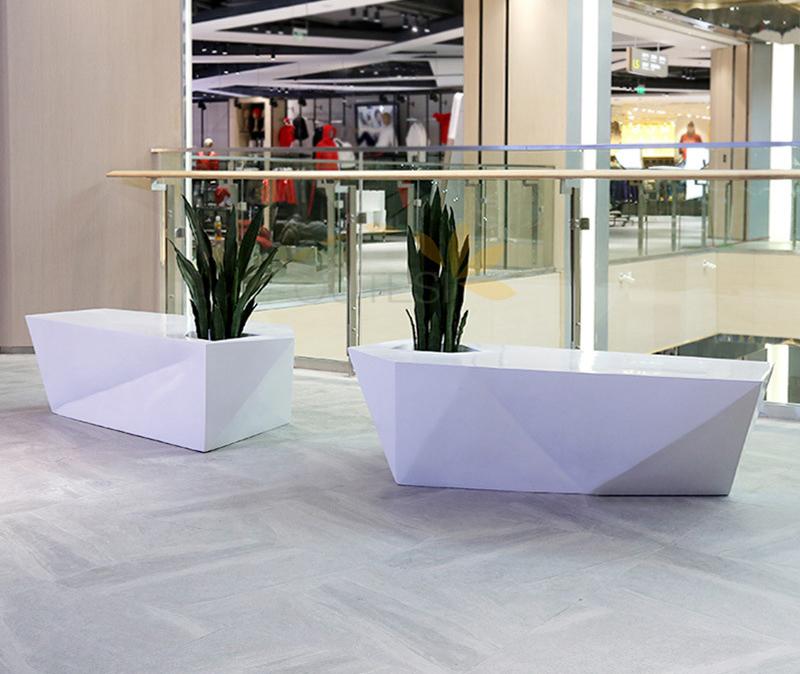 菱形组合沙发户外庭院长凳 机场时尚创意长凳 三菱户外玻璃钢家具多人沙发
