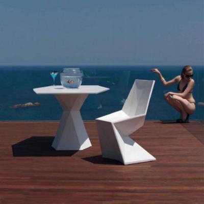 北欧玻璃钢休闲椅 定制家具多边形组合茶几桌 时尚创意菱形椅子