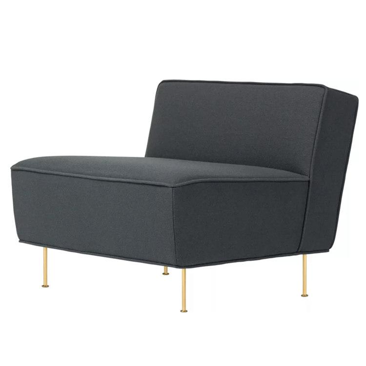 北欧单人沙发定制 现代线条躺椅别墅酒店宾馆样板房沙发 面料可选