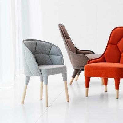 单椅北欧设计师 艾米丽椅创意时尚沙发椅休闲椅洽谈椅餐厅 定制