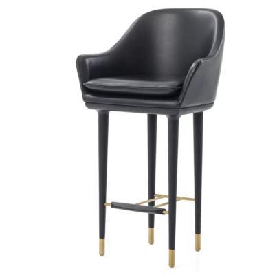 不锈钢电镀包脚 中式北欧经典吧台椅月球吧椅酒吧椅酒店会所KTV