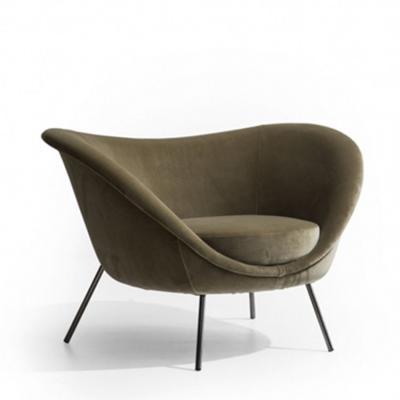 北欧设计师 经典现代家具酒店宾馆样板间写字楼躺椅 布艺真皮休闲椅沙发