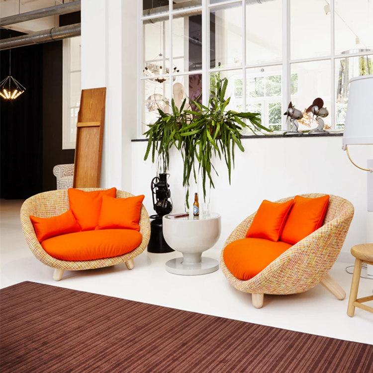 现代简约创意家居双人客厅家具北欧客厅沙发 电视电影广告道具出租