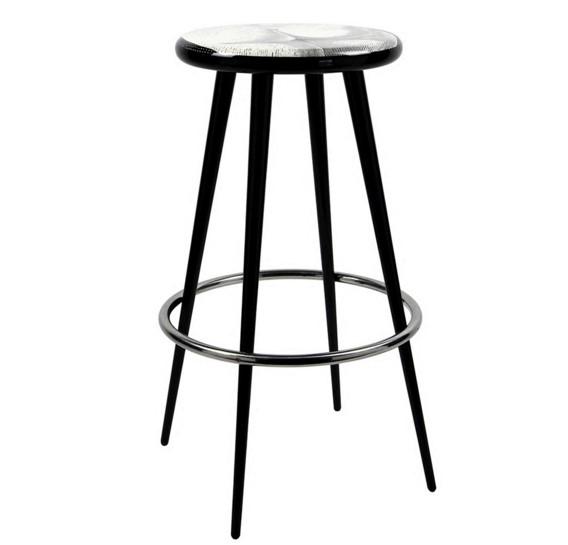 设计师作品 五金电镀高脚椅 酒店KTV 酒吧 面包店餐厅  餐椅 酒吧凳