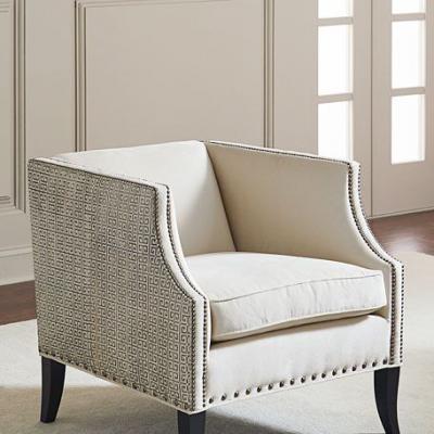 面料规格颜色可定制Alanis Leather Accent Chair 全球高端家具定制