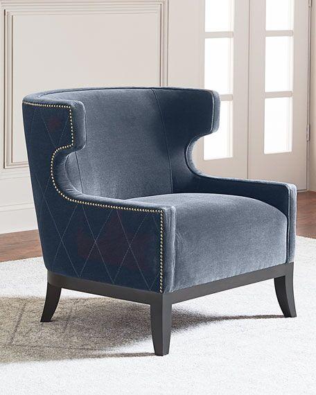地产样品房 家用商用家具设计Lennox Diamond Tufted Accent Chair 电视电影广告道具出租