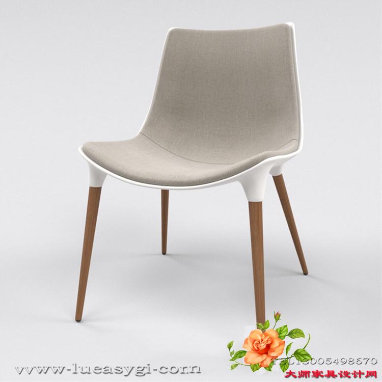 薄款玻璃钢餐椅样品房酒店接待室客厅休闲做工精美