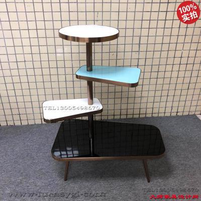 方形展示架 促销架 置物架子 不锈钢电镀 艺术架 商场卖场CBD 高端家具饰物架