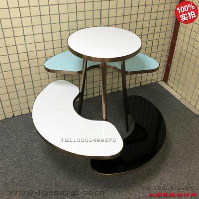 半圆形 半月牙展示架 促销架 置物架子 不锈钢电镀 艺术架 商场卖场CBD 高端家具饰物架