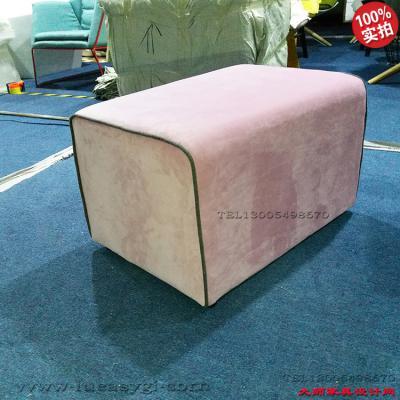 实物榻 墩 凳 脚踏沙发无靠背 布艺 北欧美设计师简洁线型大方 商场服装促销母婴店
