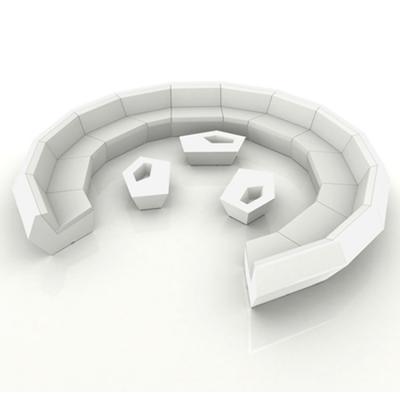 创意设计师家具 玻璃钢户外组合沙发 联合国会议圆形大前面 大气高端